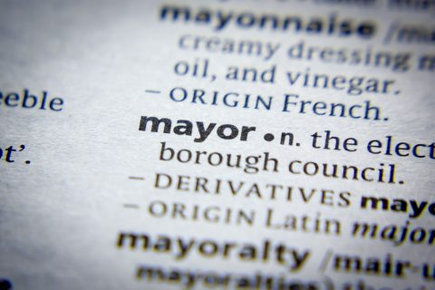 Mayor Dictionary Definition Close-Up
