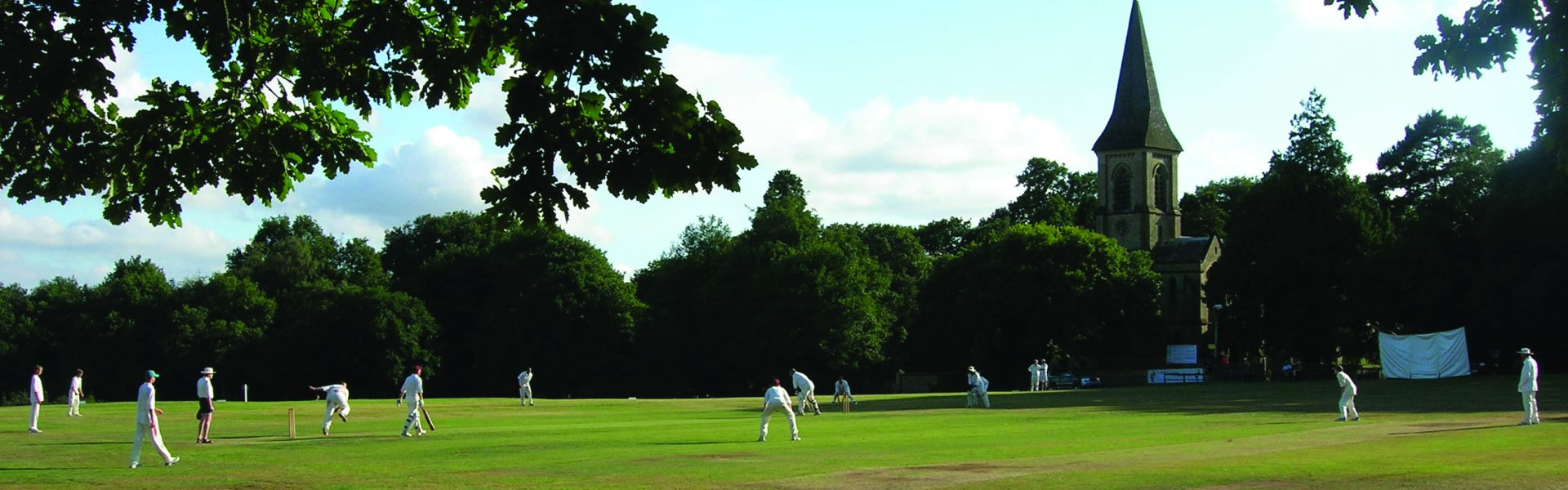 Cricket in front of St Peter's Church