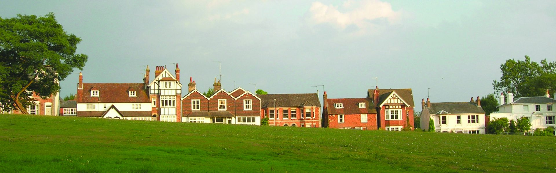 Houses in Holden Road as viewed from Southborough Common