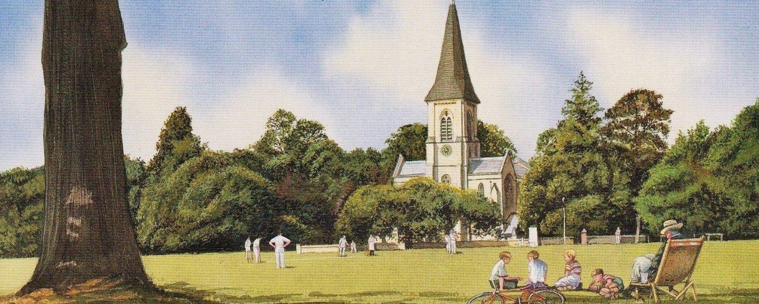 Southborough Cricket Pitch Illustration
