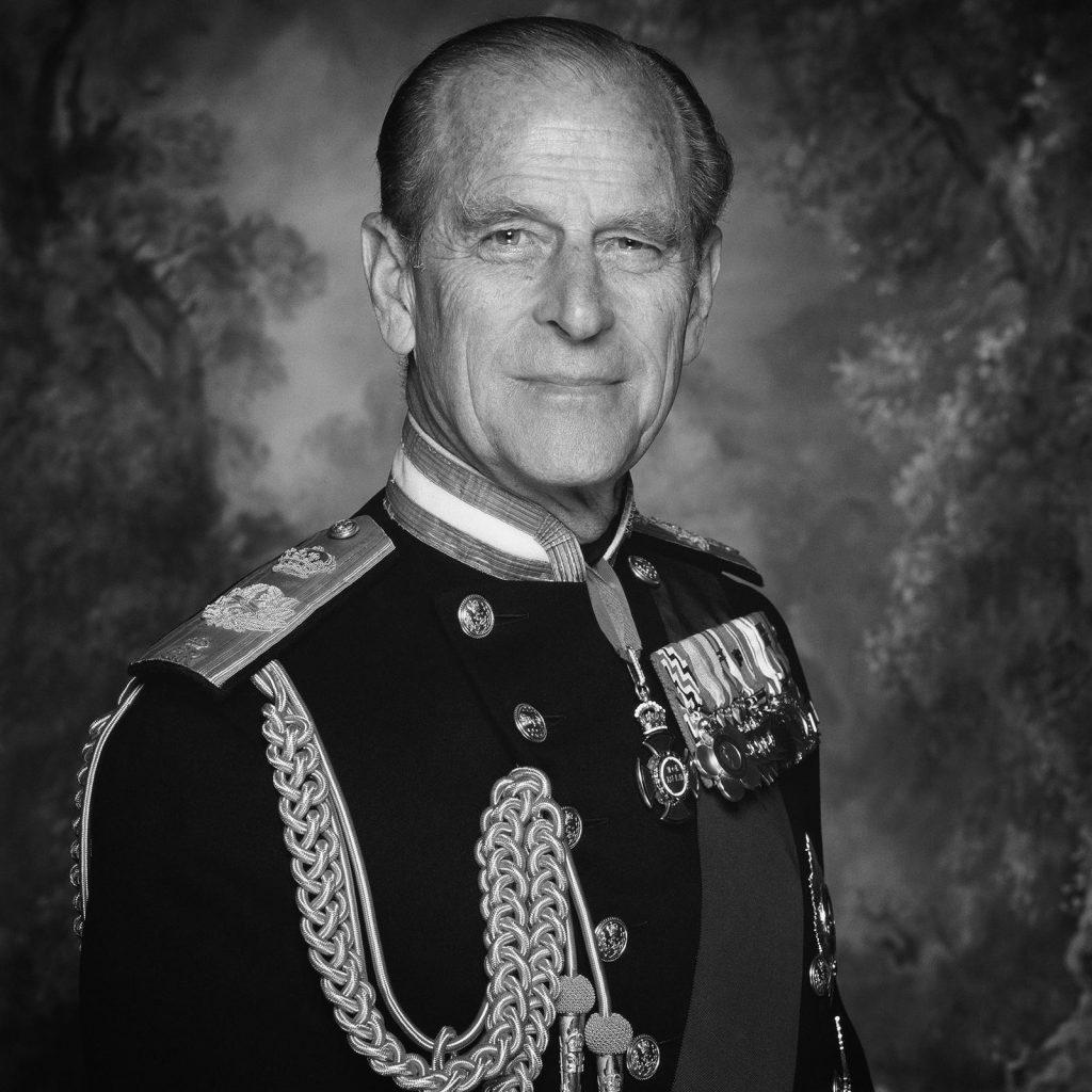 H.R.H. Duke of Edinburgh - Black and White Photo