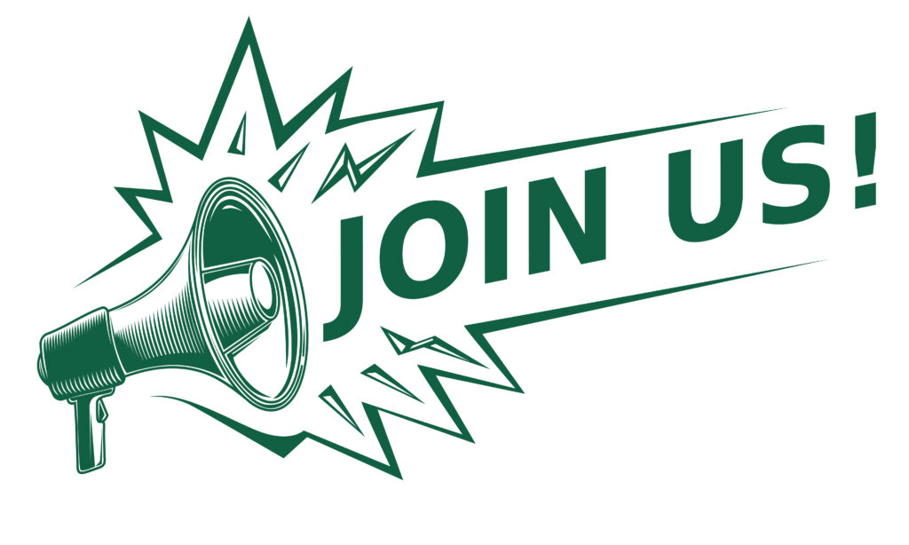 Join Us Advertising Sign With Megaphone